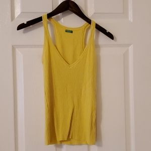 Ribbed Yellow Tank